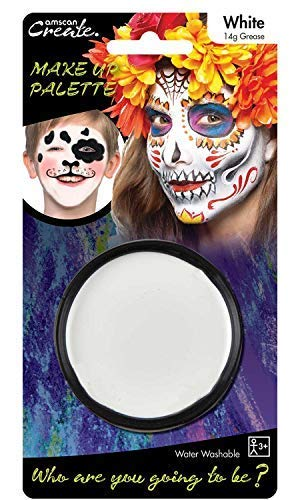 Ladies Mens Boys Girls White Face Paint Make Up Skeleton Ghost Vampire Sugar Skull Halloween Fancy Dress Costume Accessory ...