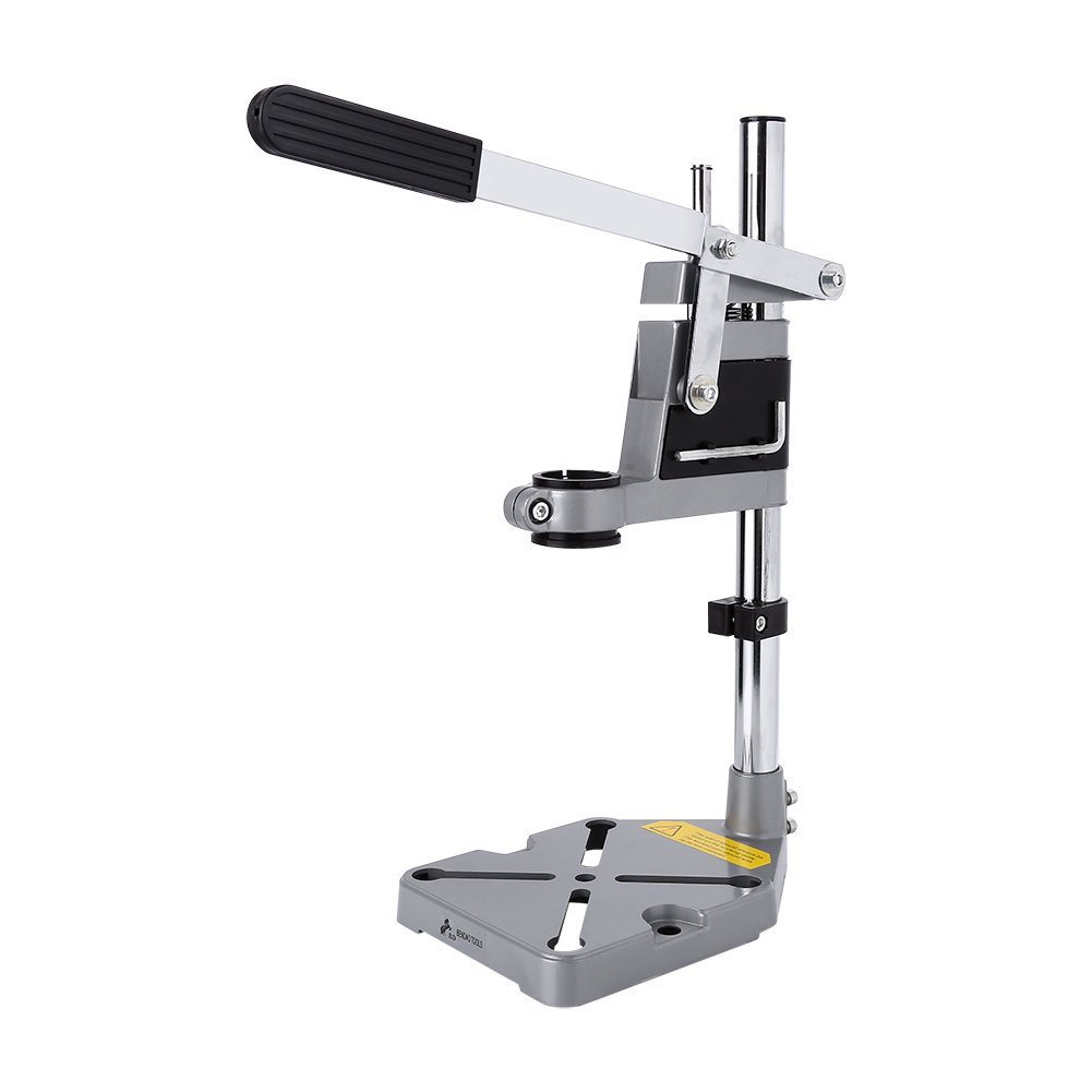 Drill Stand, Adjustable Drill Bench Press Stand Repair Tool Workbench Pillar Base Clamp for Shop and Home Drilling, Height 400mm Greensen