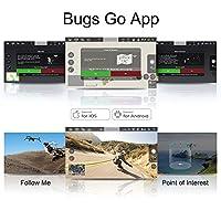 ElementDigital MJX Bugs 5W GPS Drone App IOS Android FPV Drone Kit 1080P Camera Record Video 1-Key RTH Altitude Hold Track Flight Headless Brushless Motor, Bonus Battery, Adjustable Camera Angle by ElementDigital