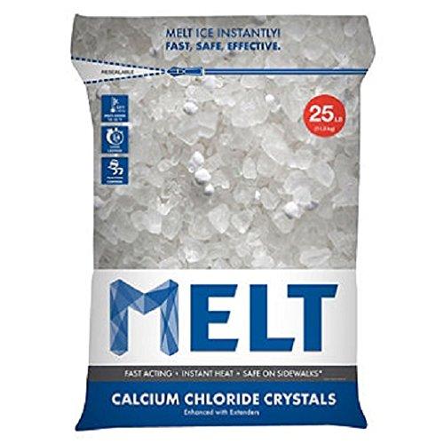 Ice Snow Melt (Snow Joe MELT25CC Melt Calcium Chloride Crystals Ice Melter Resealable Bag, 25-Pound)