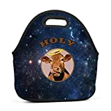LOGvvl Lunch Tote Creative Holy Angel Cow Graphic Lunch Bag for Adult and Kids - Idea for Beach, Picnics, Road Trip, Meal Prep,Daily, Everyday Lunch to Work or School
