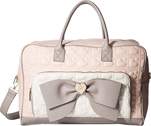 Quilted Bow - Betsey Johnson Women's Bow Weekender Blush Multi One Size