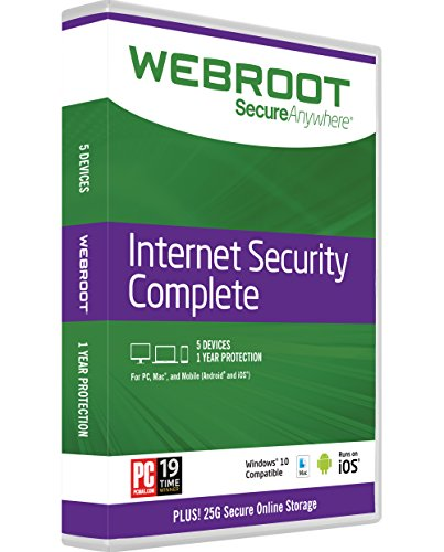 Price comparison product image Webroot Internet Security Complete + Antivirus 2017 | PC/Mac Disc | 5 Device | 1 Year Subscription