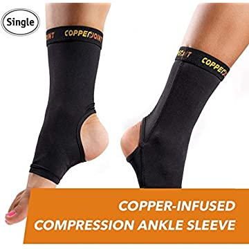 buy CopperJoint Copper-Infused Compression Ankle Sleeve