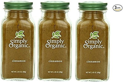 Simply Organic Cinnamon Ground Certified Organic, 2.45-Ounce Container - Pack of 3
