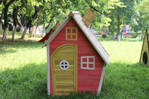 Einzigartig Kinderhaus Mia, Holzhaus, Kinderspielhaus, vormontiert: Amazon.de  GU45