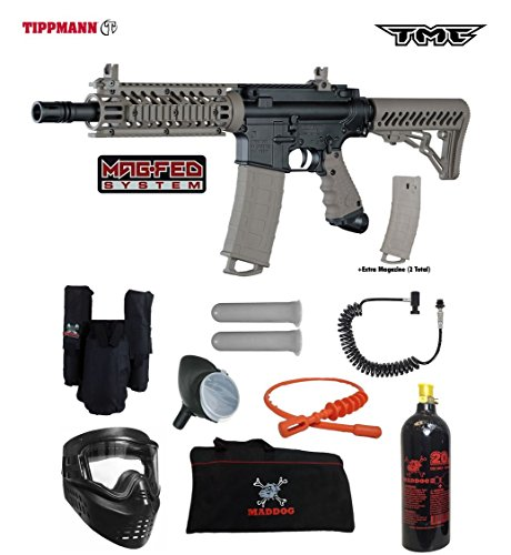 Tippmann TMC MAGFED Private Paintball Gun Package - Black/Tan