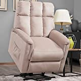 Harper&Bright Designs Power Lift Chair Soft Fabric Recliner Lounge Living Room Sofa with Remote Control
