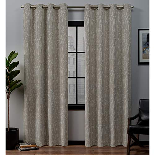 Hill Linen - Exclusive Home Curtains Forest Hill Panel Pair, 52x84, Linen