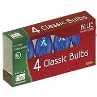NOMA/INLITEN-IMPORT 1075B-88 C7 Blue Bulb, 4-Pack