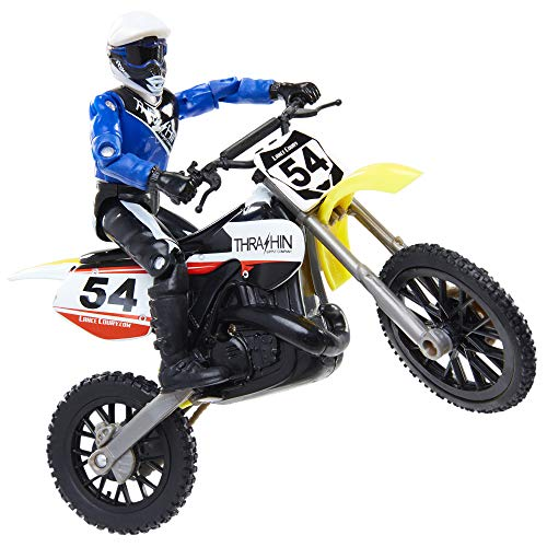 MXS New Spring 2018 Motocross Sound FX Bike & Rider Series 11-Lance Coury by Jakks Pacific Action-Figure-Playsets