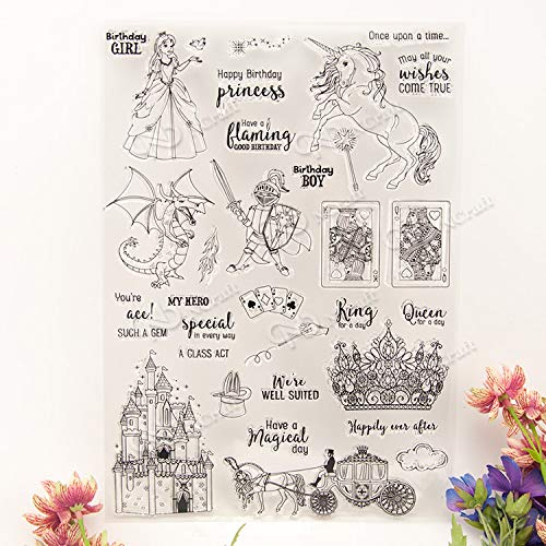GIMITSUI Store New Clear Stamps for DIY Card Making (Fairy Tales)