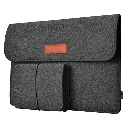 Laptop Sleeve, dodocool 12 Inch Felt Sleeve Case Protective Bag with Mouse Pouch for 12 MacBook / 12 Surface Pro 3, Acer Asus Dell HP Sony Lenovo Chromebook Laptop and More