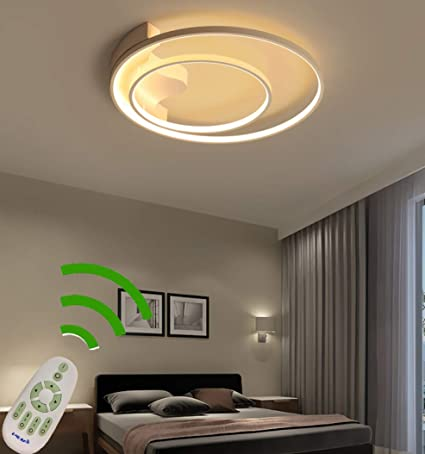 Moderna lámpara LED de techo regulable para salón con mando ...