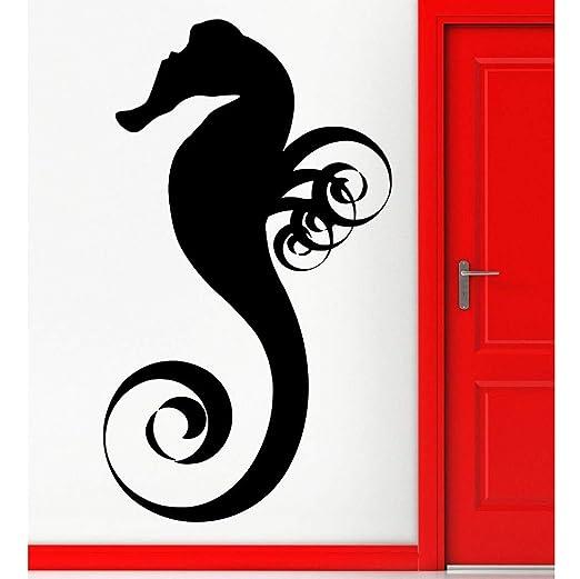 hllhpc Acuario Mariscos Vinilo Tatuajes de Pared Nursery Sea Horse ...