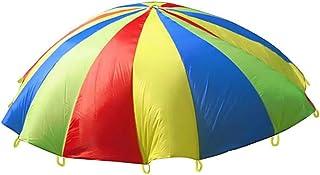 VORCOOL Enfants Jouet Parachute 3,6 ft pour l'activité de Construction de l'équipe de Gymnastique et Jeux de Plein air Jouer au Parachute