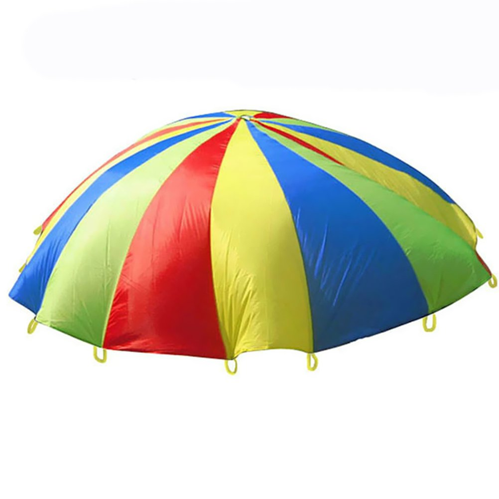 VORCOOL 1.1M Kids Parachute Toy Childrens Play Tent for Group Play, Cooperative Movement Games, Team Building Activity and Outdoor Games