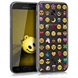 kwmobile Crystal Case Cover for Samsung Galaxy A5 (2017) TPU silicone IMD design protective case - soft mobile cover Design emoji