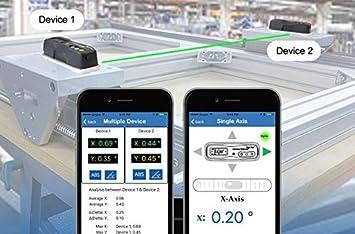 Digi-Pas 2-Axis Smart Machinist Digital Level DWL1300XY Bluetooth 0.002//ft 0.2mm//M