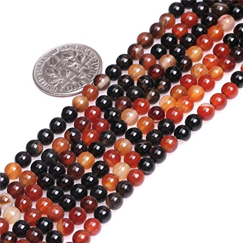 Precious Agate Semi - 4mm Natural Dream Lace Agate Beads Round Semi Precious Gemstone Loose Beads for Jewelry Making Strand 15 Inch (95-100pcs)
