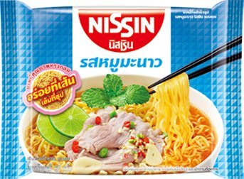 Nissin, Instant Noodle, Moo Manao Flavour, net weight 60 g (Pack of 5 pieces) / Beststore by KK8