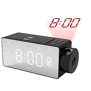 Amazon.com: NFY Bluetooth altavoz despertador con proyección ...