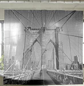 Izola PEVA Water and Mold Resistant Shower Curtain - Brooklyn Bridge