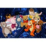 "Winnie the Pooh Set of Nine 8"" Plush Character Beanies"