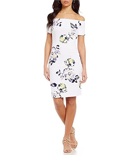 d0e1ca21a32 Antonio Melani Melissa Floral Off-the-Shoulder Scuba Crepe Dress (8 ...