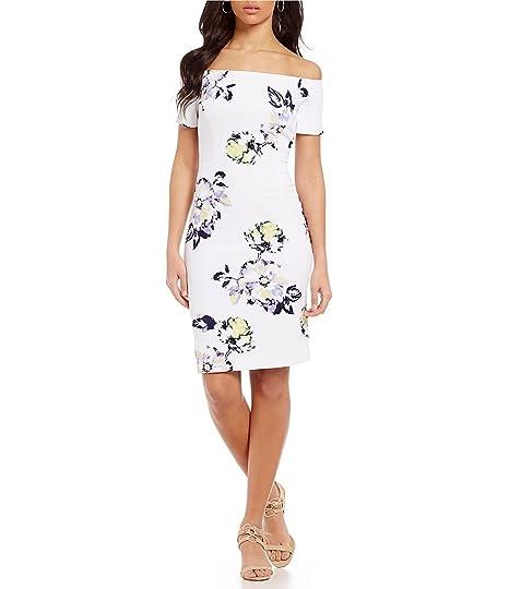 52b532d73fe0 Antonio Melani Melissa Floral Off-the-Shoulder Scuba Crepe Dress (8 ...
