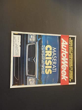 Auto Week Oct 10 1988 Maserati; Mazda MPV; Supercharged VW Corrado