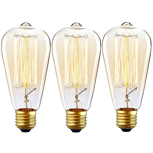 Lucero Edison Bulb St64 60w Dimmable Vintage Squirrel