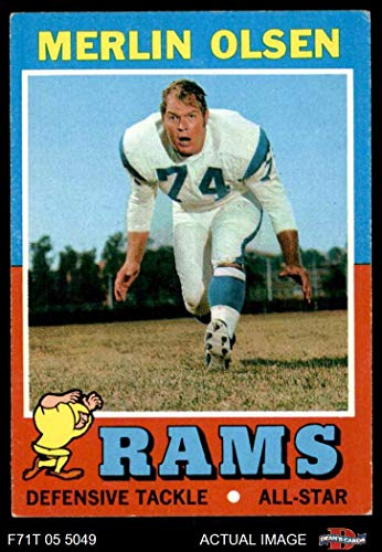 - 1971 Topps # 125 Merlin Olsen Los Angeles Rams (Football Card) Dean's Cards 4 - VG/EX Rams