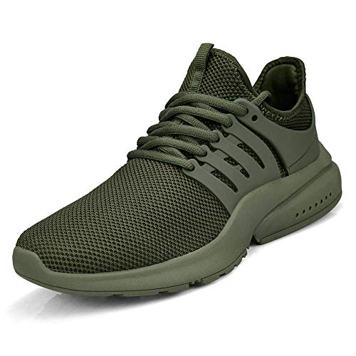 (MARSVOVO Women Sneakers Casual Tennis Gym Running Breathable Sport Shoes Green)