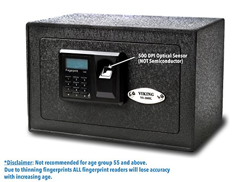 Viking Security Safe VS-20BLX Mini Biometric Safe Fingerprint Safe by Viking Security Safe
