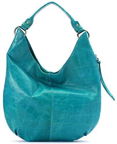 [Hobo Women's Leather Vintage Gardner Shoulder Handbag (Teal Green)] (Hobo Purse)