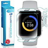 Apple Watch Series 3 Screen Protector + Back Cover (38mm)[2-Pack], ILLUMI AquaShield Full Coverage Back and Front Screen Protector for Apple Watch Series 3 HD Clear Anti-Bubble Film