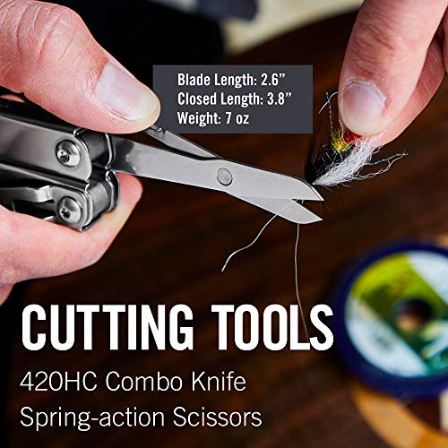LEATHERMAN - Wingman Multitool with Spring-Action Pliers and Scissors, Stainless Steel with Nylon Sheath