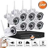 SW SWINWAY 8Channels 720P HD Wireless Security Camera System with 8 Outdoor 720P HD Wireless IP For Sale