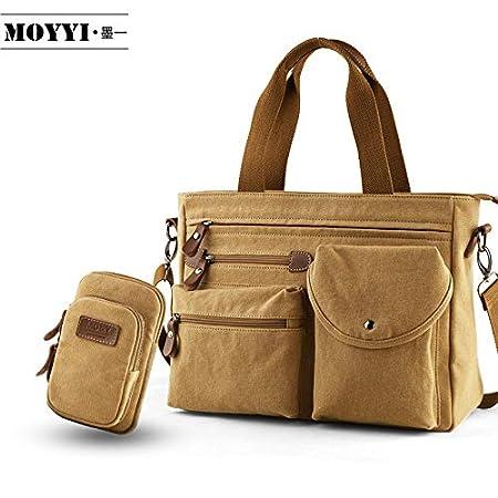 LIUXINDA-NS Mens Classic British Casual Mens Bag Shoulder Messenger Bag Canvas Bag Business Mens Handbag Briefcase Computer Bag