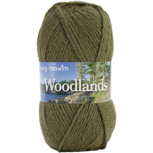 Mary Maxim Woodlands Yarn, - Woodland Green Acrylic