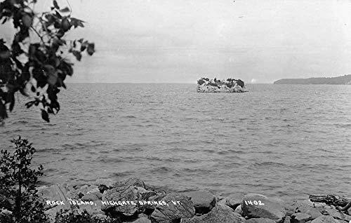 Highgate Springs Vermont Rock Island Real Photo Vintage Postcard JA454159 ()