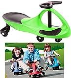 EliteZotec® Green Swing Car Ride On Swivel Scooter Wiggle Gyro Twist & Go Kids Ride-on Car Push Stunt Sport Customs Drift
