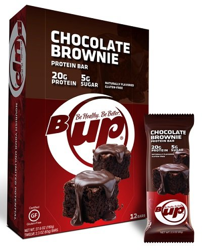 B up B-up Protein Bars Glutten Free Naturally Flavored No Artificial Sweeteners Or Preservatives YUP Brands (Brownie)