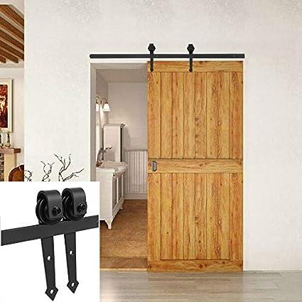 Juego de rieles de suspensión para puerta corredera, sistema de hardware para puertas correderas y armarios de pared: Amazon.es: Bricolaje y herramientas