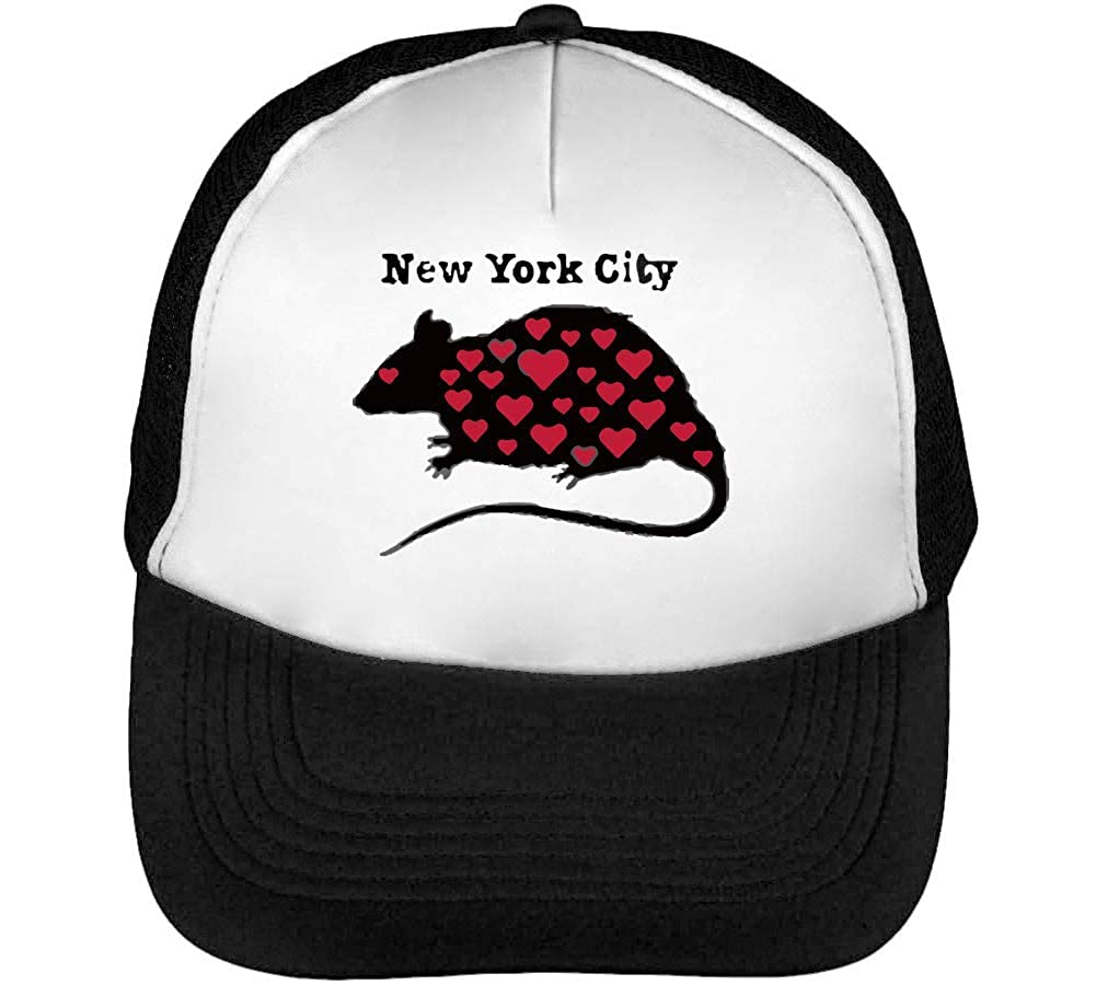 New York Rats Casquette Snapback Homme Noir Blanc Baseball