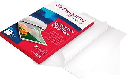 PERGAMY 900145 - Pack de 100 bolsas para plastificar, A3, 75 ...
