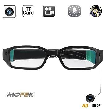 bd6c12a228 Mofek 8GB 1920x1080P HD Hidden Camera Sport Video Spy Glasses Mini Eyewear  DV Camcorder