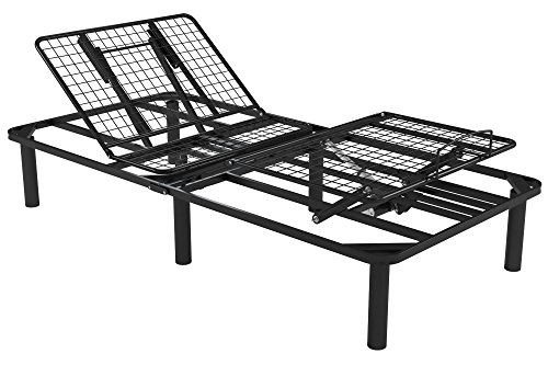 Price comparison product image Signature Sleep Power Adjustable Metal Bed Foundation,  Remote Control,  Black Metal,  Twin XL