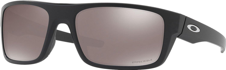 Oakley Drop Point Gafas de Sol, Hombre, Negro (Matte Blac/Prizmblackpolarized), 61